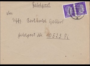 Feldpost II. Weltkrieg: Brief an FPNr. 10525 Pi, 1944