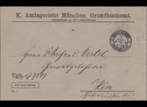 Königliches Amtsgericht München 1913, Grundbuchamt