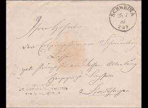 Angelegenheit seiner Majestät der Herzogin Mutter von Meiningen/ Schweina 1875