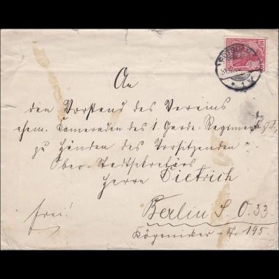 Hofmarschall seiner kuk Hoheit des Kronprinzen von Potsdam nach Berlin