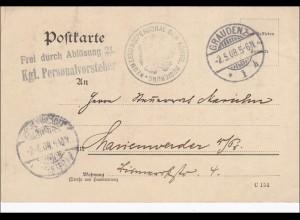 Neumessungspersonal der königl. Regierung von Graudenz 1908 nach Harinswerder