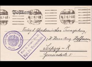 Königliche Universitäts Bibliothek Halle 1918 nach Halle