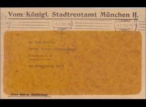 Königliches Stadtrentenamt München 1913