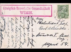 Osterkarte der Königlich Bayrischen Gesandtschaft Wien