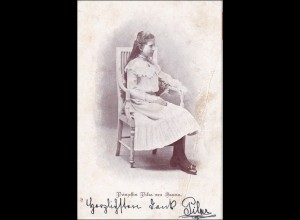 AK Prinzessin Pilar von Bayern, Siegel und Unterschrift nach Lichtenfels 1905