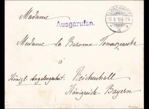 Oberhofmeisterin am königlichen Hofe von Loschwitz 1912 nach Reichenhall,