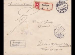 Meiningen, Herzogliche Angelegenheit, Herzogliches Siegel 1941 nach Frankfurt