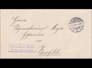 Herzogliche Kreisdirektion Helmstedt nach Vorsfelde 1903