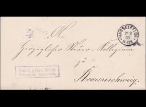 Amtsgericht Hasselfelde 1903 nach Braunschweig