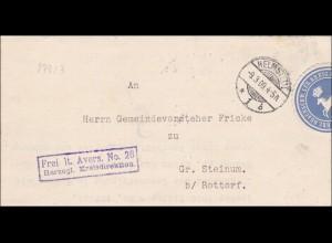Herzogliches Kreisdirektorium Braunschweig - Helmstedt 1909 nach Steinum/Rottorf