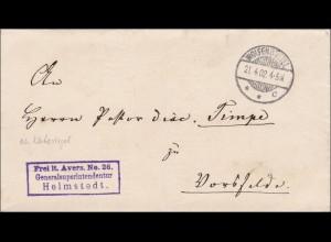 Generalsuperintendantur Helmstedt / von Wolfenbüttel nach Vorfelde 1902