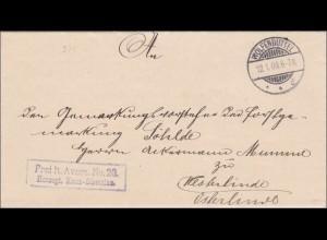 Herzogliche Kreis-Direktion Wolfenbüttel nach Westerlinde/Osterlinde 1903