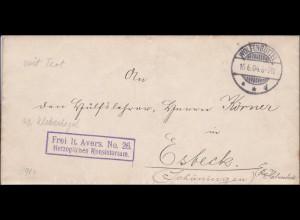 Herzogliches Konsistorium Wolfenbüttel nach Esbeck/Schöningen 1904