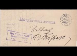 Bürgermeisteramt Rastatt 1903 nach Gernsbach
