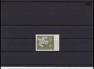 Bund MiNr. 376, ** postfrisch, vom rechten Seitenrand mit starker Verzähnung