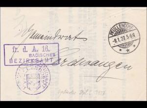 Badisches Bezirksamt Pfullendorf 1927