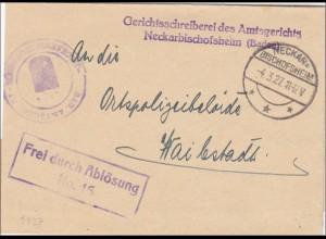 Amtsgericht Bischofsheim 1927 nach Haibstadt