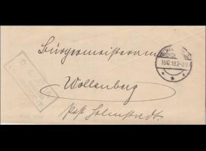 Amtsgericht Neckar-Bischofsheim 1919 nach Wollenberg
