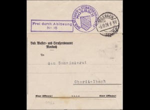 Badisches Wasser- und Strassenbauamt Mosbach nach Oberdielbach 1926