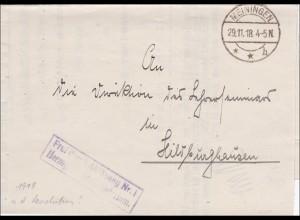 Herzogliches Staatsministerium Meiningen 1918 nach Hildburghausen