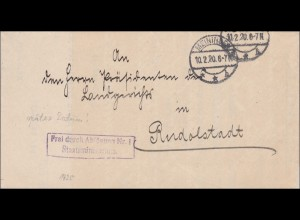 Staatsministerium Meiningen 1920 nach Rudolstadt