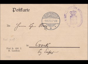 Postkarte Hildburghausen 1910 nach Crock/Eisfeld