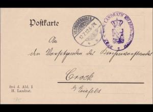 Postkarte Hildburghausen 1912 nach Crock/Eisfeld
