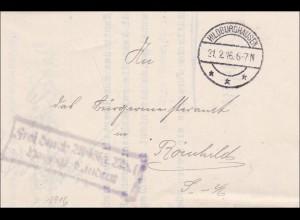 Hildburghausen 1916 vom Herzoglichen Landrat