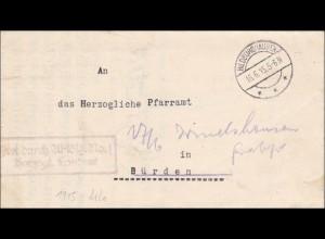 Hildburghausen 1915 vom Herzoglichen Landrat nach Bürden