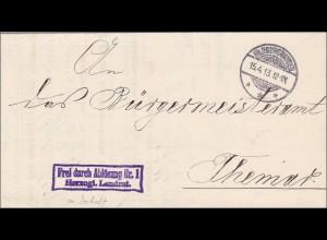 Hildburghausen 1913 vom Herzoglichen nach Themar