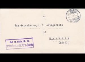 Grossherzoglicher Direktor Dermbach/Feldabahn 1918 nach Ostheim/Rhön