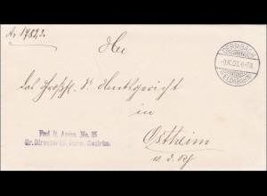 Dermbach/Feldabahn 1903 nach Ostheim