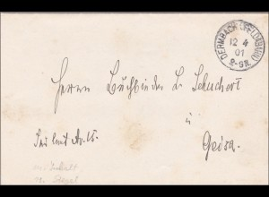 Dermbach/Feldabahn 1901 nach Geisa