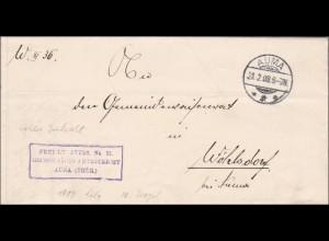 Auma, Grossherzogliches Amtsgericht 1908 nach Wöhlsdorf