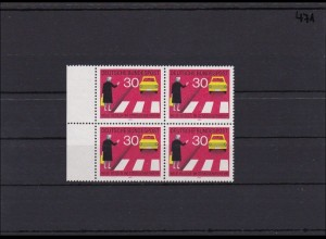 Bund MiNr. 673 I, ** postfrisch, im Randviererblock