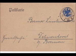 Postkarte Berlin 1918 nach Delmenhorst/Bremen