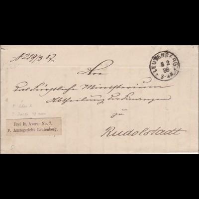 Amtsgericht 1888 Leutenberg nach Rudolstadt