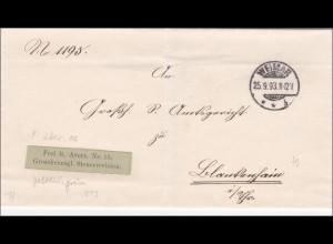 Steuerrevision Weimar nach Blankenhain 1893