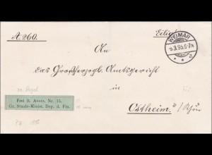 Staats Ministerium Finanzen Weimar 1895 nach Ostheim