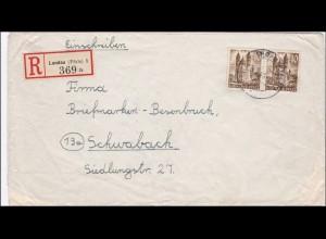 Französische Zone: Einschreiben von Landau nach Schwabach 1949