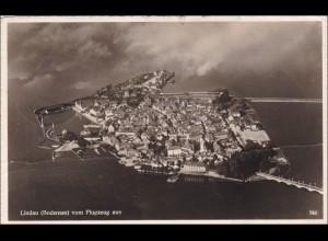 Französische Zone: AK von Lindau /Friedrichshafen nach Strassburg 1949