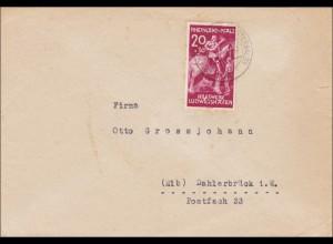 Französische Zone: Brief aus Altenkirchen nach Dahlerbrück 1948