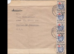 Französische Zone: Brief von Überlingen 1947 nach USA