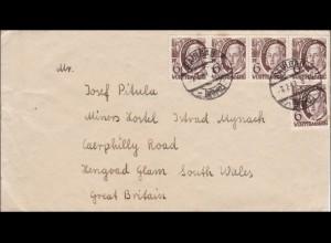 Französische Zone: Brief aus Saulgau 1949 nach England