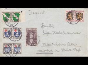 Französische Zone: Brief aus Ludwigshafen 1946 nach Marenheim/Pfalz
