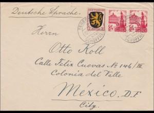Französische Zone: Brief aus Tegernau/Schopfheim nach Mexiko 1947