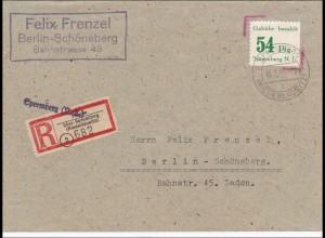 Lokalausgaben: Einschreiben Spremberg 1946 nach Berlin Schöneberg
