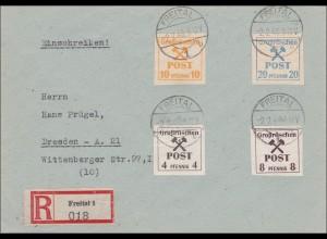 Lokalausgaben: Einschreiben Freital 1948 nach Dresden