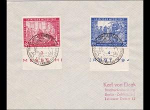Brief Leipzig - Sonderstempel 1947 nach Berlin
