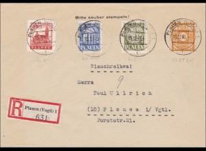 SBZ: Einschreiben aus Plauen 1945, FDC